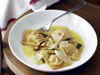 Pumpkin ravioli with sage butter