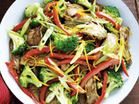 Beef, broccoli and orange stir-fry