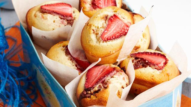 Strawberry & Toblerone friands