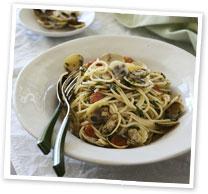 Spaghetti with pipis