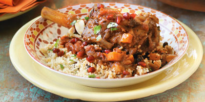 Lamb shanks with spices & couscous