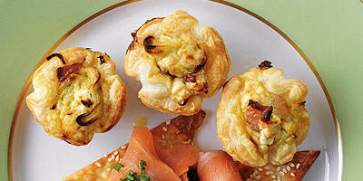 Pancetta, leek and goat's cheese tartlets