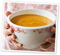 Pumpkin and tomato soup