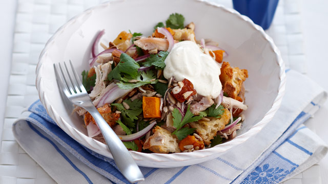 Chicken and pumpkin salad