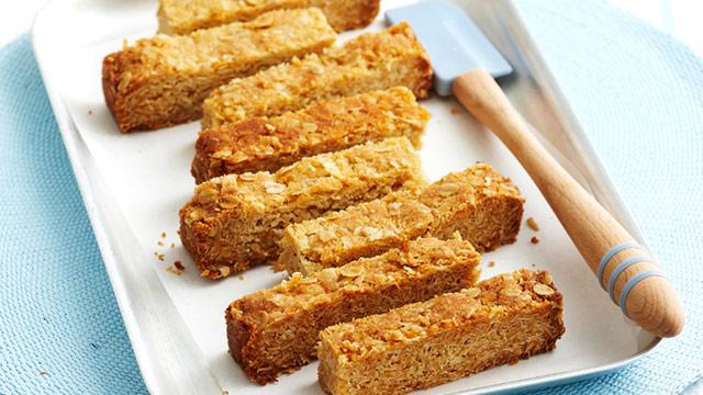 Honey oat slice