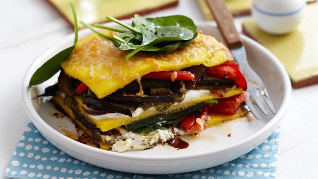 Roast vegetable pesto stacks recipe - 9kitchen