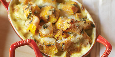 Butternut, Sage and Parmesan Gratin