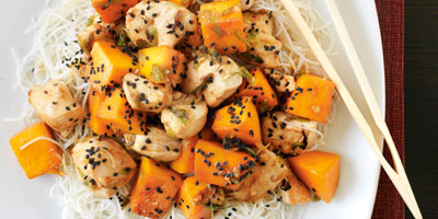 Chicken with pumpkin and ginger