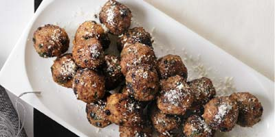 Parmesan-dusted meatballs