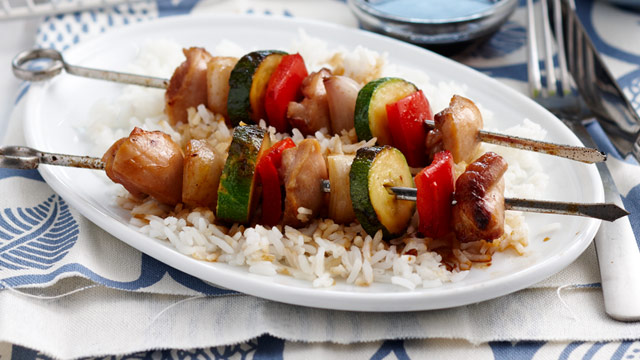 Chicken yakitori skewers for $10