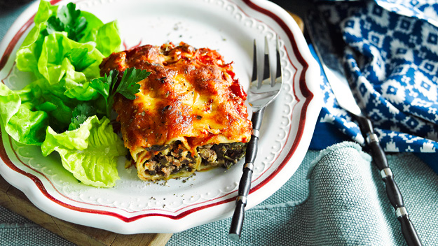 Lamb and silver beet cannelloni