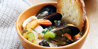 Fish Soup with Olives and Wine