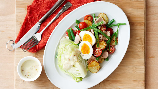 Light nicoise salad