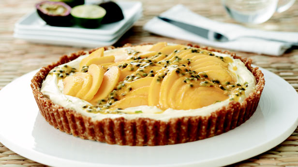Best lime mascarpone and mango tart