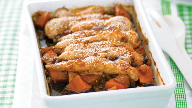 Chicken kumara and pineapple bake