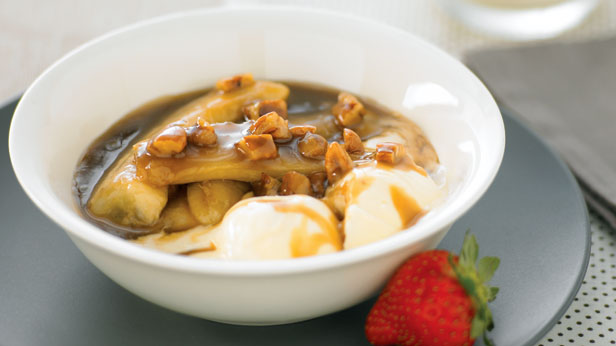 Toffee baked bananas