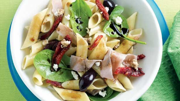 Warm pasta salad