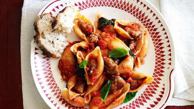 Pasta with Italian sausage
