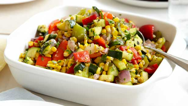 Curtis Stone's sweet corn and zucchini ratatouille