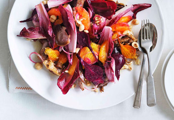 <p>Don't just serve the same old salads with your meals. Kick your salads into gear with a couple of choice secret weapons, from nuts to croutons or capers. Click through for a parade of perfect ideas that will get salad back on the menu and inspire you to get creative with your rabbit food, starting with a bit of blood orange for added zing.</p>