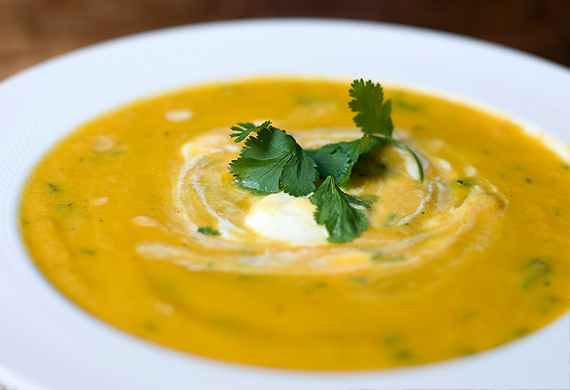 Carrot and honey wellness soup
