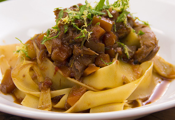 Justine Schofield's easy lamb shank ragu with pasta