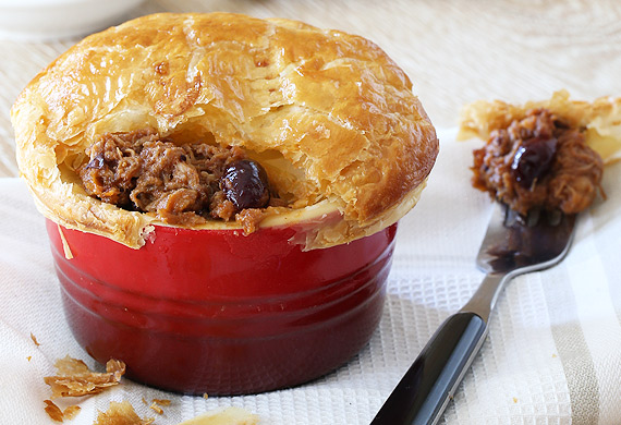 Cranberry barbecue pulled pork pie