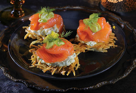Smoked salmon rosti