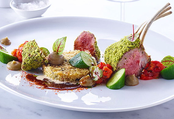 Neil Martin S Roasted Rack Of Lamb With Charred Eggplant