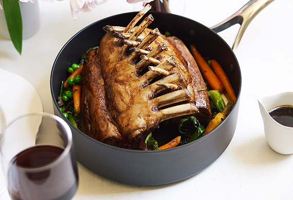 Roasted Rack Of Spring Lamb With Baby Vegetables 9kitchen