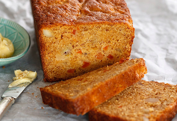 Papaya and banana bread
