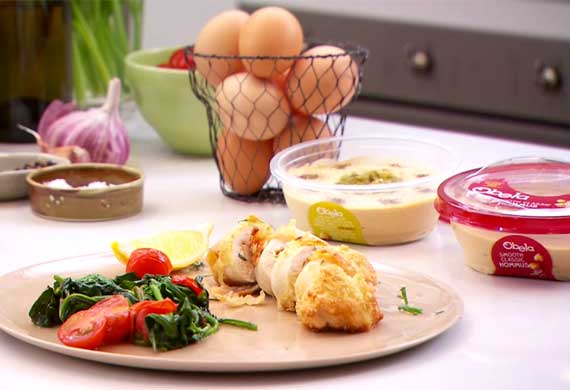 Jack Gunston's hommus-stuffed chicken breast