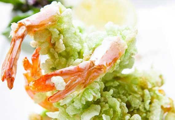 Geoff Lindsay's green rice fried prawns