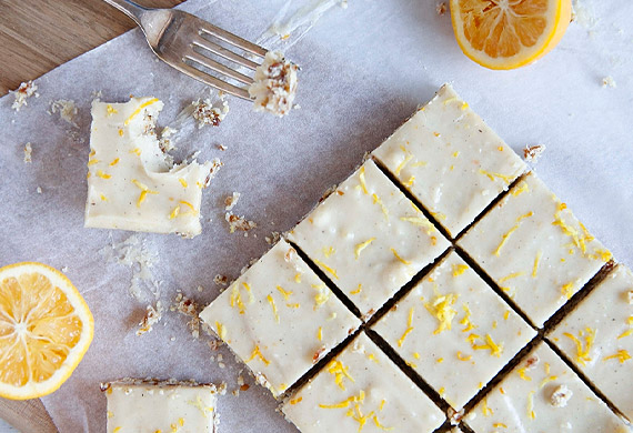 Brooke Meredith's gluten-free lemon coconut slice