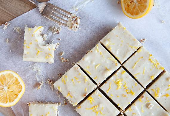 Brooke Meredith's gluten-free lemon coconut slice