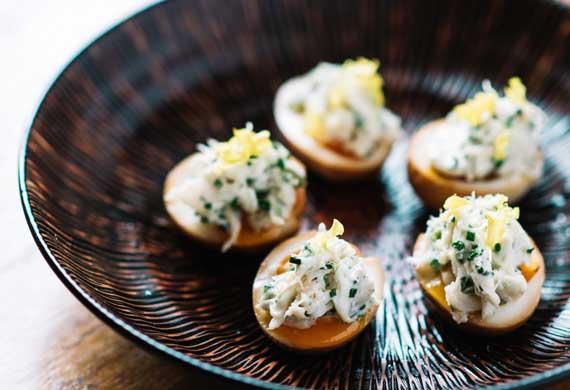 Adrian Li's deviled ramen egg