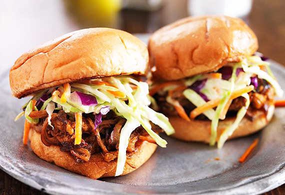 Ben Farley's tomato and chipotle pulled pork sliders