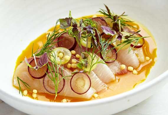 Papi Chulo's hiramasa kingfish sashimi