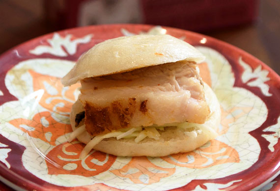 Marion's red curry-roasted pork belly bao