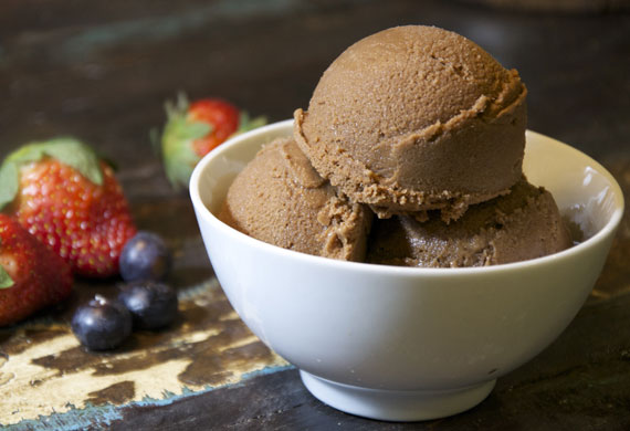 Almond milk chocolate ice-cream