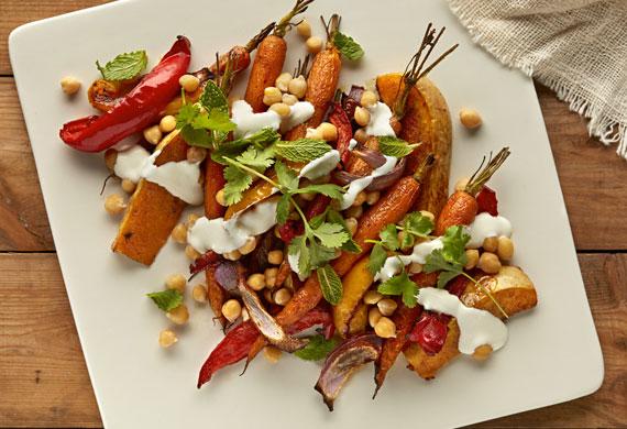 Moroccan chickpea salad