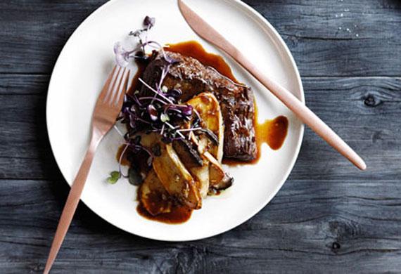 Beef, shallot, mushroom and Madeira sauce