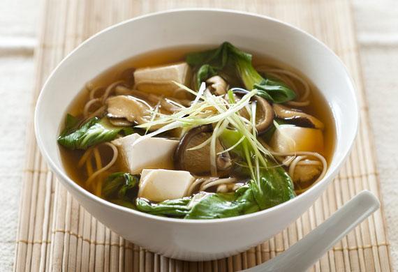 Weight Watchers' tofu and mushroom miso soup