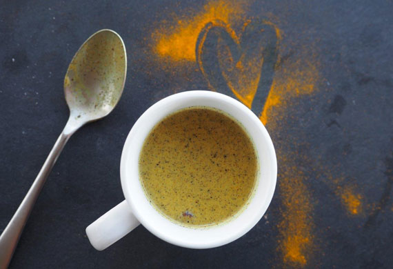 Scott Gooding's turmeric latte