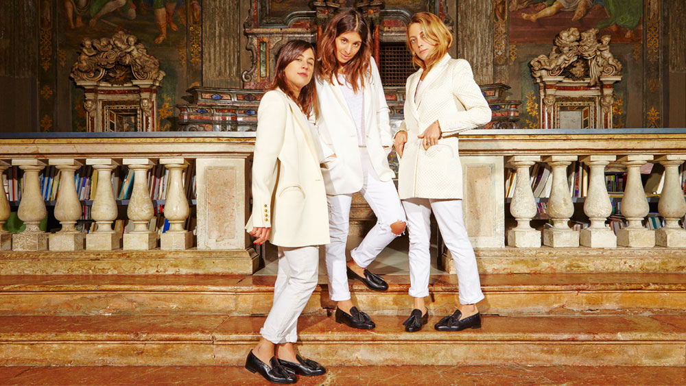 Stylists Corrada Rodriguez D'Acri, Delfina Pinardi, and Maria Sole Torlonia