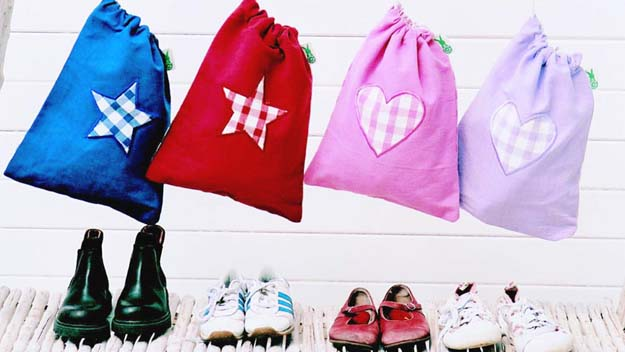 Make your own shoe bags