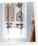 Handy woman: kitchen window tea towel blind