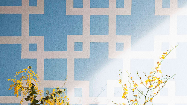 wall designs with paintPainted wall design  9homes