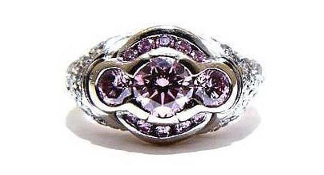 Rare pink diamond ring most likely smashed up and sold off separately