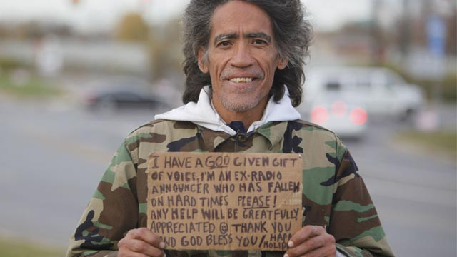Homeless man with 'Golden Voice' preparing for movie biography